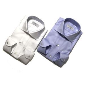 TOMORROWLAND トゥモローランド メンズ 140/2 ワイドカラー ツイルシャツ|altasotto