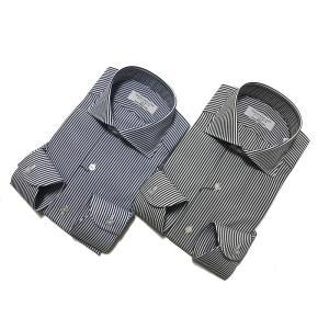 TOMORROWLAND トゥモローランド メンズ 140/2 ワイドカラー ロンドンストライプシャツ|altasotto
