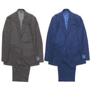 TOMORROWLAND トゥモローランド メンズ DRAGO BLUE FEEL グレンチェック 2Bスーツ|altasotto
