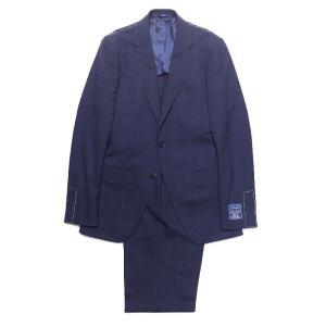 TOMORROWLAND トゥモローランド メンズ DRAGO BLUE FEEL ウインドーペーン 2Bスーツ|altasotto