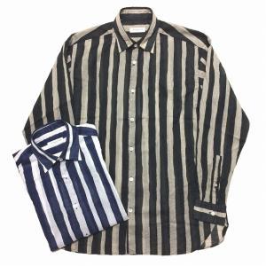 TOMORROWLAND トゥモローランド メンズ ボールドストライプ ビッグシャツ|altasotto
