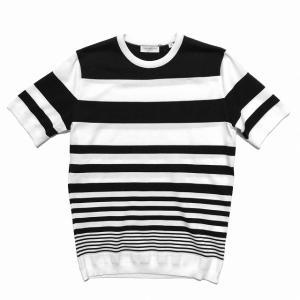 TOMORROWLAND トゥモローランド メンズ グラデーションストライプ ニットTシャツ|altasotto
