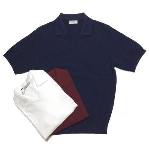 TOMORROWLAND トゥモローランド メンズ スキッパーカラー ニットポロシャツ|altasotto