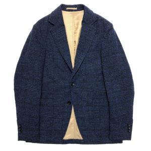 TOMORROWLAND トゥモローランド メンズ リングツイード グレンチェック 3Bジャケット|altasotto