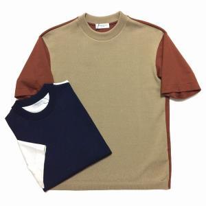 TOMORROWLAND トゥモローランド メンズ エアポンチ ニット切替Tシャツ|altasotto