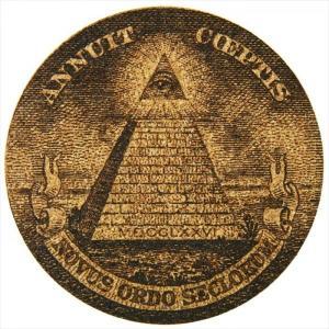 コルクコースター(1ドル紙幣 ピラミッド)メール便(ネコポス)送料無料・|altasystem