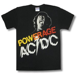 AC/DC/アンガス・ヤング/POWERAGE/ロックTシャツ/バンドTシャツ alternativeclothing