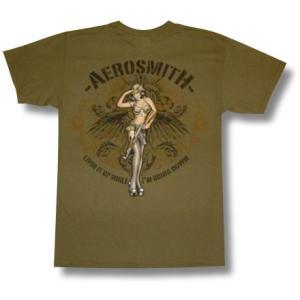 エアロ・スミス/ツアー2009/Tシャツ/AERO SMITH/カーキ/ロックT/バンドT|alternativeclothing