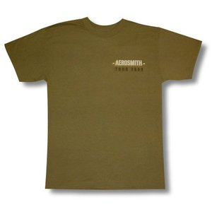 エアロ・スミス/ツアー2009/Tシャツ/AERO SMITH/カーキ/ロックT/バンドT|alternativeclothing|02