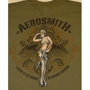 エアロ・スミス/ツアー2009/Tシャツ/AERO SMITH/カーキ/ロックT/バンドT|alternativeclothing|03