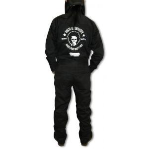 ドクロ/アフロ/スカル/つなぎ/オールインワン/黒/作業服/バイカー/ロック|alternativeclothing