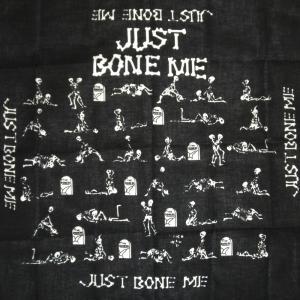 スケルトン/love/48手スカル/バンダナ/FUNKY/PUNK/ROCK/HIP-HOP/スカル/髑髏/ドクロ/骸骨/ガイコツ/ブラック/黒/ホネ/骨|alternativeclothing