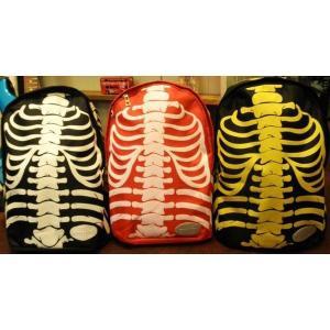 骨/ホネ/リュック/スケルトン/バックパック/スカル/髑髏/ドクロ/バッグ/黒/黄色/赤|alternativeclothing