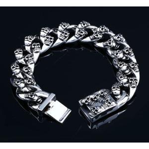 アクセサリー 粒々スカル ブレスレット ドクロ ガイコツ メンズ|alternativeclothing