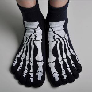 スカル/骨/フット/ボーン/くつ下/靴下/骸骨/ホネ/スケルトン/ブラック|alternativeclothing