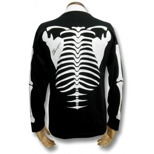 Tシャツ スケルトン ガイコツ ドクロ スカル 長袖 メンズ レディース ロンT|alternativeclothing|03