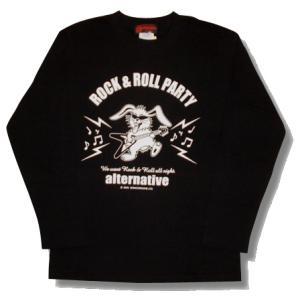 ★ フライングVギター&うさぎ長袖Tシャツ。|alternativeclothing