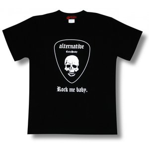 スカルのギター・ピック/ドクロ/Tシャツ/ロック/パンク/バンド/メンズ/レディース/|alternativeclothing