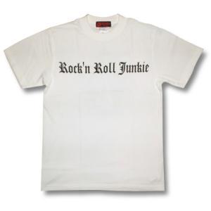 ロックンロール・ジャンキー(紋章)Tシャツ/メンズ/レディース/プレゼント/ギフト包装/ラッピング無料|alternativeclothing