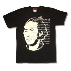 坂本龍馬Tシャツ/黒/メンズ/プレゼント/ギフト包装/ラッピング無料/坂本竜馬|alternativeclothing