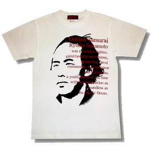 坂本龍馬Tシャツ/白/メンズ/レディース/プレゼント/ギフト包装/ラッピング無料|alternativeclothing