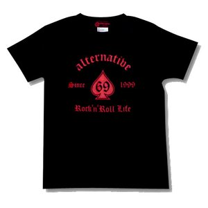 ★スペードTシャツ(黒)|alternativeclothing