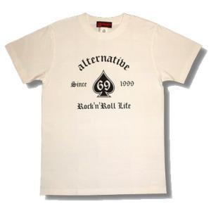 ★スペードTシャツ(白)|alternativeclothing