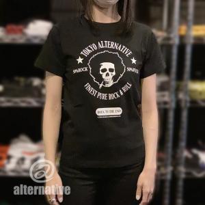 アフロ/スカル/ドクロ/Tシャツ/黒/ロック/バンド/レビューを書いてメール便送料無料!|alternativeclothing