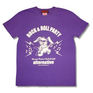 フライングVうさぎTシャツ/紫/パープル/メンズ/レディース/|alternativeclothing