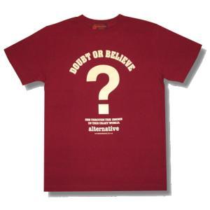 でっかいクエスチョンマーク?Tシャツ/バーガンディ/メンズ/レディース|alternativeclothing