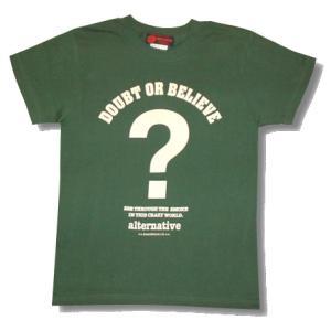?クエスチョンマークTシャツ/グリーン/レディース/メンズ|alternativeclothing
