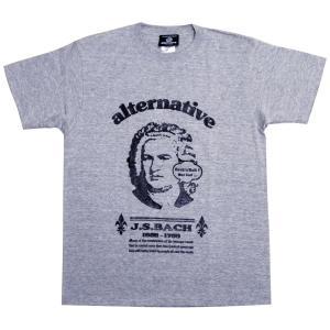 J.S.バッハTシャツ/グレー/パロディ・ジョーク/メンズ/レディース/プレゼント|alternativeclothing