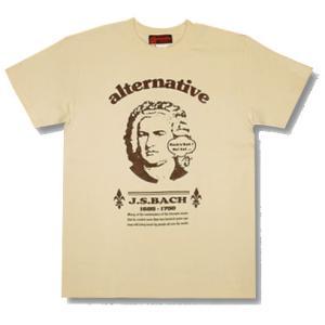 バッハ/J.S.Bach/Tシャツ/生成/メンズ/レディース/プレゼント/ギフト包装/ラッピング無料|alternativeclothing