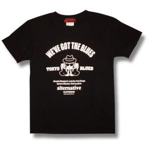福助/ブルースマン/ブル助」/シャツ/黒/ブラック/メンズ/レディース/|alternativeclothing