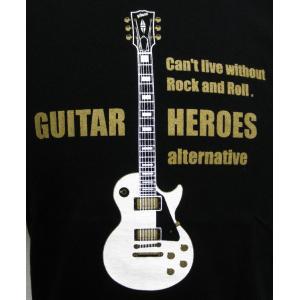 白のレスポール/ギターTシャツ/Les Paul/メンズ/レディース|alternativeclothing|03