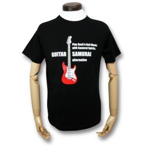 ストラト/ギター侍Tシャツ/メンズ/レディース|alternativeclothing