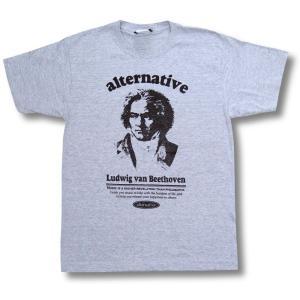 Tシャツ ベートーベン  クラシック 作曲家 グレー エリーゼのために 田園 男女兼用 ベートーヴェン|alternativeclothing