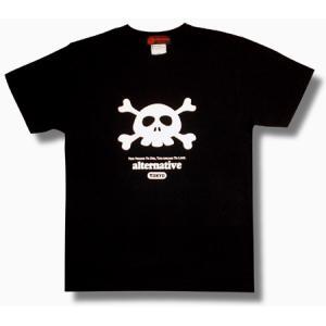 ドクロ/Tシャツ/キュートなスカル/かわいい/クロスボーン/黒/メンズ/レディース/|alternativeclothing