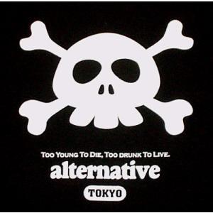 ドクロ/Tシャツ/キュートなスカル/かわいい/クロスボーン/黒/メンズ/レディース/|alternativeclothing|03