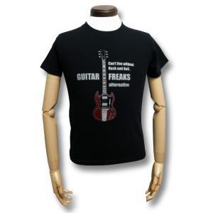 ギター/SG/Tシャツ/Gibson/AC/DC/アンガス・ヤング/黒/メンズ/レディース/プレゼントに最適/ブラック|alternativeclothing