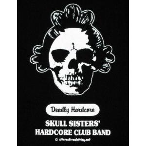 スカル姉さん/ドクロ/ハードコアクラブバンド/メンズ/レディース/Tシャツ(黒)|alternativeclothing|03