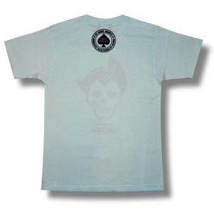 弱腕ツトム/ドクロ/スカル/半袖/Tシャツ/ライトブルー/メンズ/レディース|alternativeclothing|02