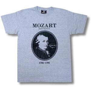 Tシャツ モーツァルト Mozart 偉人 Rock Me オルタナティヴ  グレー メンズ レディース フィガロの結婚 ジュピター ウィーン|alternativeclothing