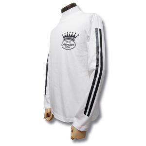 ストライプ/袖プリント/ロンT/長袖/Tシャツ/白/ホワイト/重ね着/|alternativeclothing