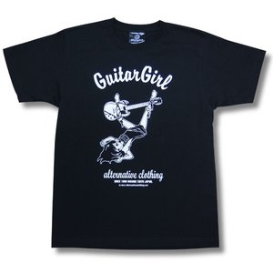Tシャツ 東京ギターガール SG Gibson Tokyo Guitar Girl  ロック メンズ レディース 黒|alternativeclothing