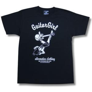 東京ギターガール/SG/Gibson/Tokyo Guitar Girl/Tシャツ/ロックTシャツ/メンズ/レディース/黒|alternativeclothing