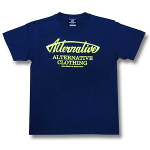 Tシャツ オルタナティヴ ロゴ  アメリカン 紺 ネイビー メンズ レディース|alternativeclothing