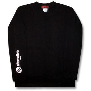 Tシャツ 長袖 重ね着 ロンT メンズ レディース 黒|alternativeclothing