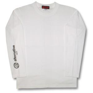 Tシャツ 長袖 重ね着 長袖 ロンT メンズ レディース 白|alternativeclothing