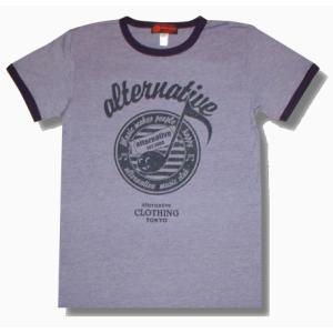 音符トリムTシャツ/ブルー/メンズ/プレゼント/ギフト包装/ラッピング無料|alternativeclothing